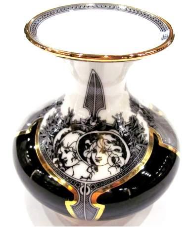 Hollóházi Jurcsák kis váza