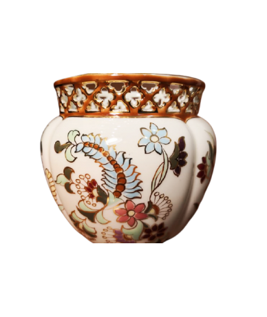 Zsolnay porcelán áttört kaspó