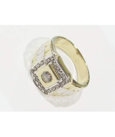 Férfi arany pecsét gyűrű.