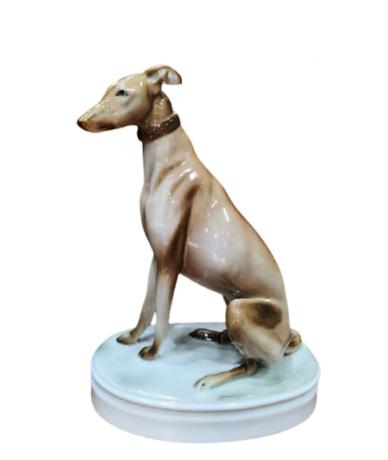 Zsolnay porcelán agár kutya...