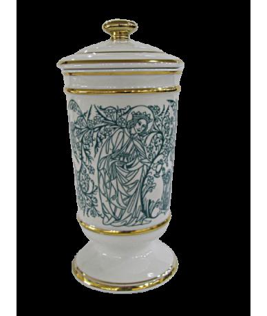 Hollóházi Faragó fedeles váza
