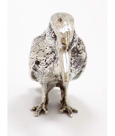 Ezüst kolibri figura