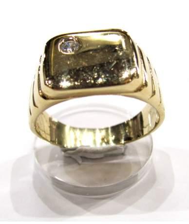 Férfi köves pecsét gyűrű.