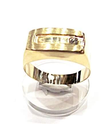 Férfi arany köves pecsétgyűrű.
