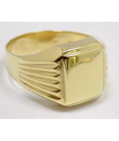 Sárga arany férfi pecsétgyűrű