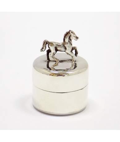 Ezüst lovas fogtartó