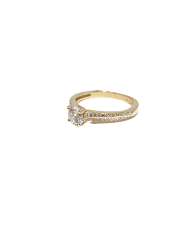 Sárga arany szoliter gyűrű.