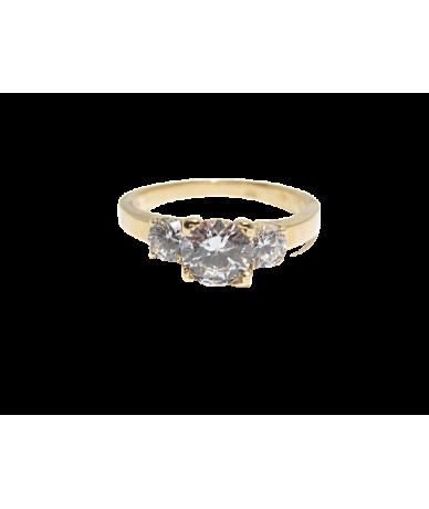 Arany,köves női gyűrű.