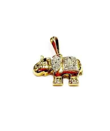 Arany elefánt medál brillköves