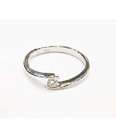 Brillköves fehér arany gyűrű