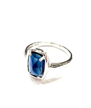 Kék köves ezüst gyűrű