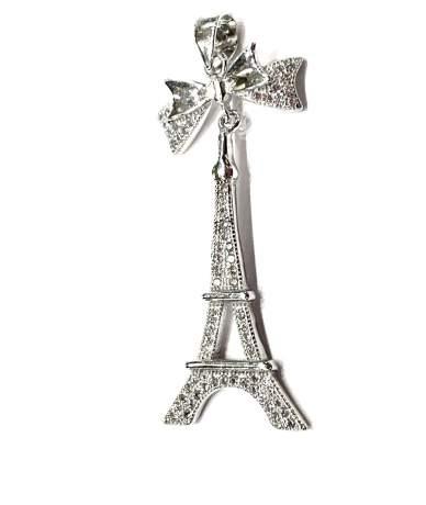 Ezüst Eiffel torony medál