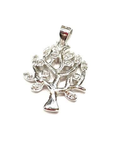 Köves ezüst életfa medál
