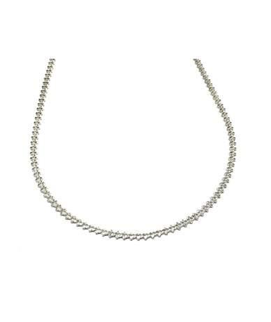 Lapos fantázia ezüst lánc