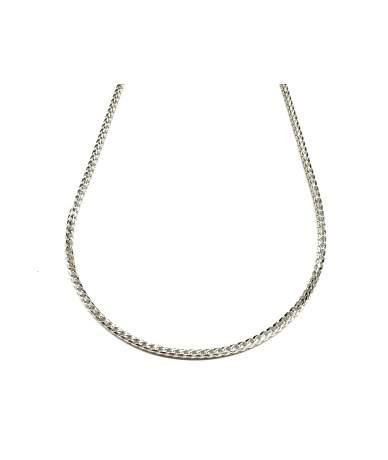 Fonott hengeres ezüst nyaklánc