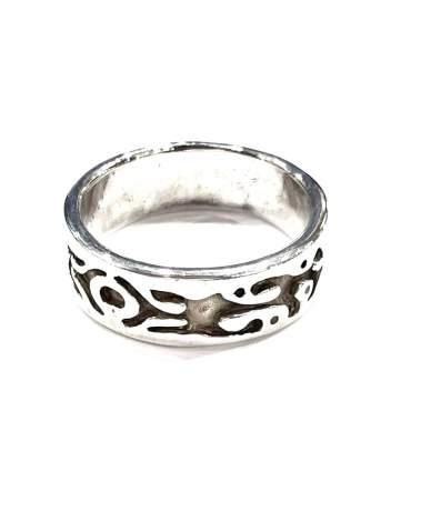 Férfi ezüst vésett karikagyűrű