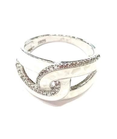 Fehér opál köves ezüst gyűrű