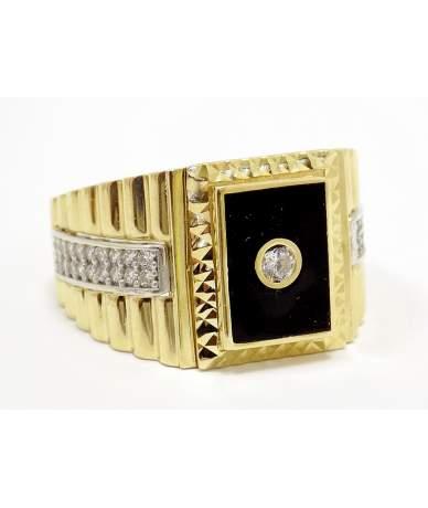 Sárga arany köves pecsétgyűrű