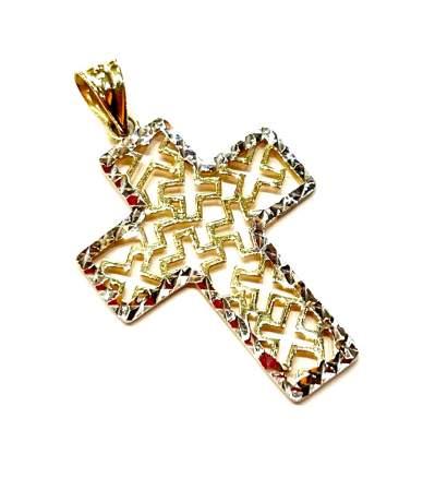 Áttört arany kereszt medál