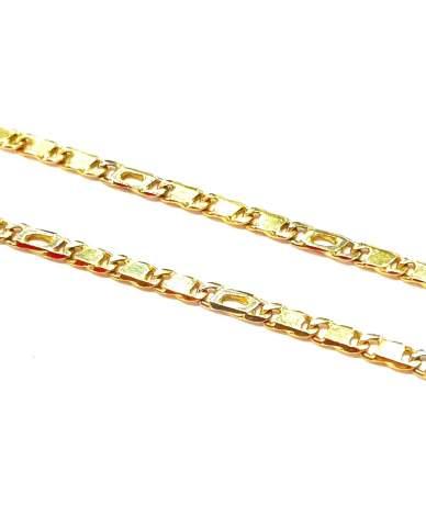 Lapos s-pancer arany lánc