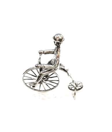 Ezüst miniatűr, velocipéd
