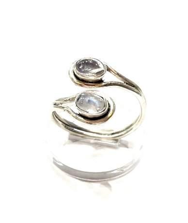 Hold köves ezüst gyűrű