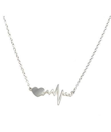 Ezüst lánc ekg szív medállal