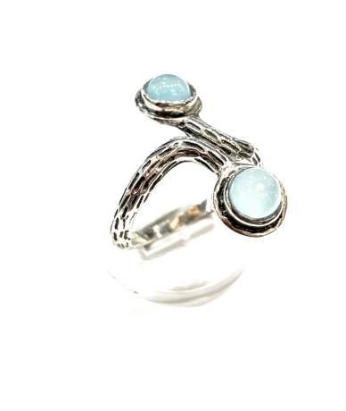 Ezüst gyűrű topáz kővel