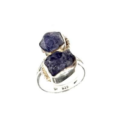 Lápisz köves ezüst gyűrű