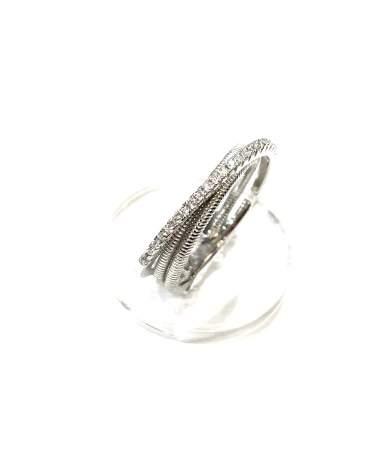Három soros ezüst gyűrű