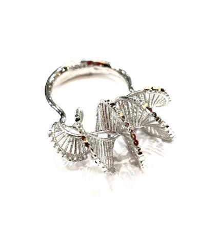Vésett spirál ezüst gyűrű
