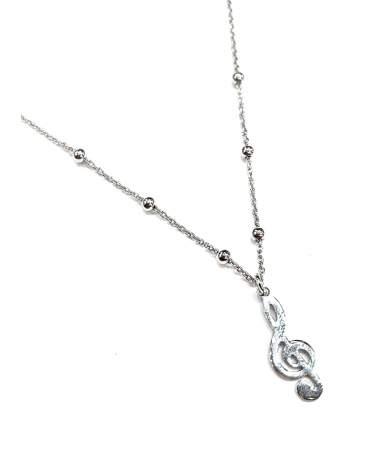 Violin kulcsos ezüst nyaklánc