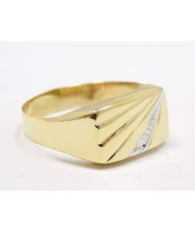 Kétszínű arany pecsétgyűrű