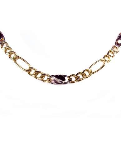 Többszínű arany Figaro lánc