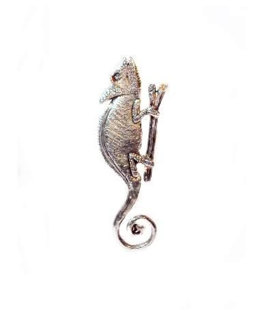 Ezüst kaméleon medál
