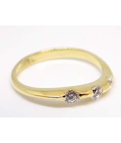 Köves sárga arany gyűrű