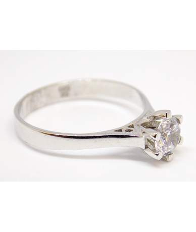 Fehér arany köves gyűrű