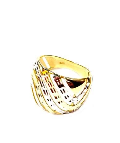 Arany vésett,áttört gyűrű