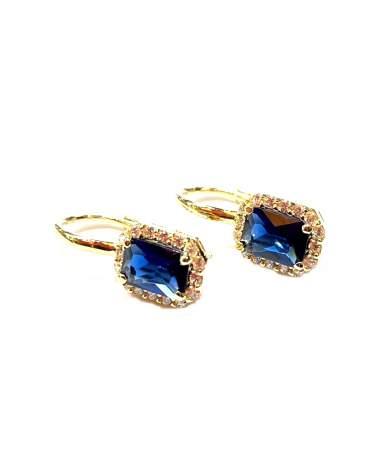 Arany fülbevaló kék és...