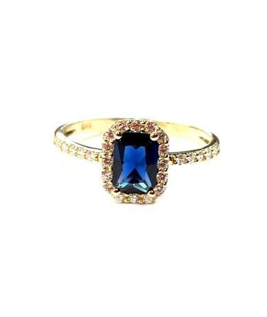 Arany gyűrű kék és fehér...