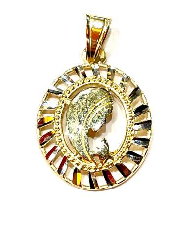 Arany ovális Mária medál.