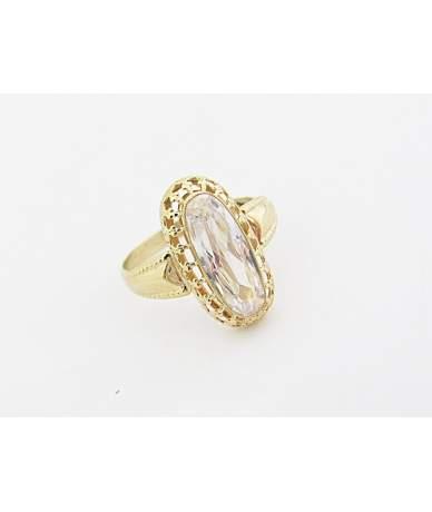Fehér köves arany gyűrű
