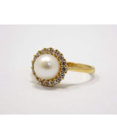 Arany gyöngyös gyűrű