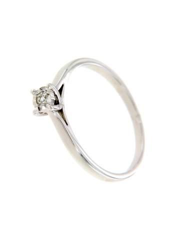Brill köves női sárgaarany gyűrű