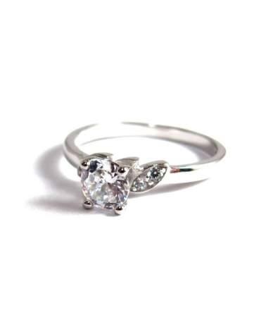 Ezüst gyűrű köves szoliter