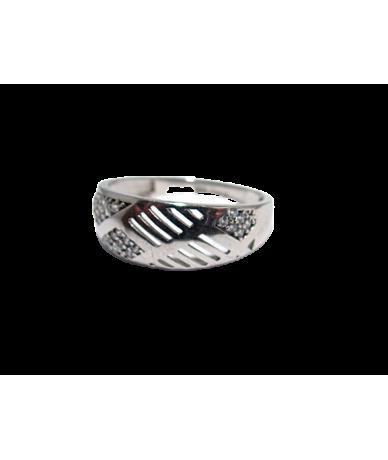 Ezüst női gyűrű köves