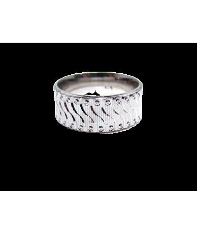 Ezüst női gyűrű vésett mintával